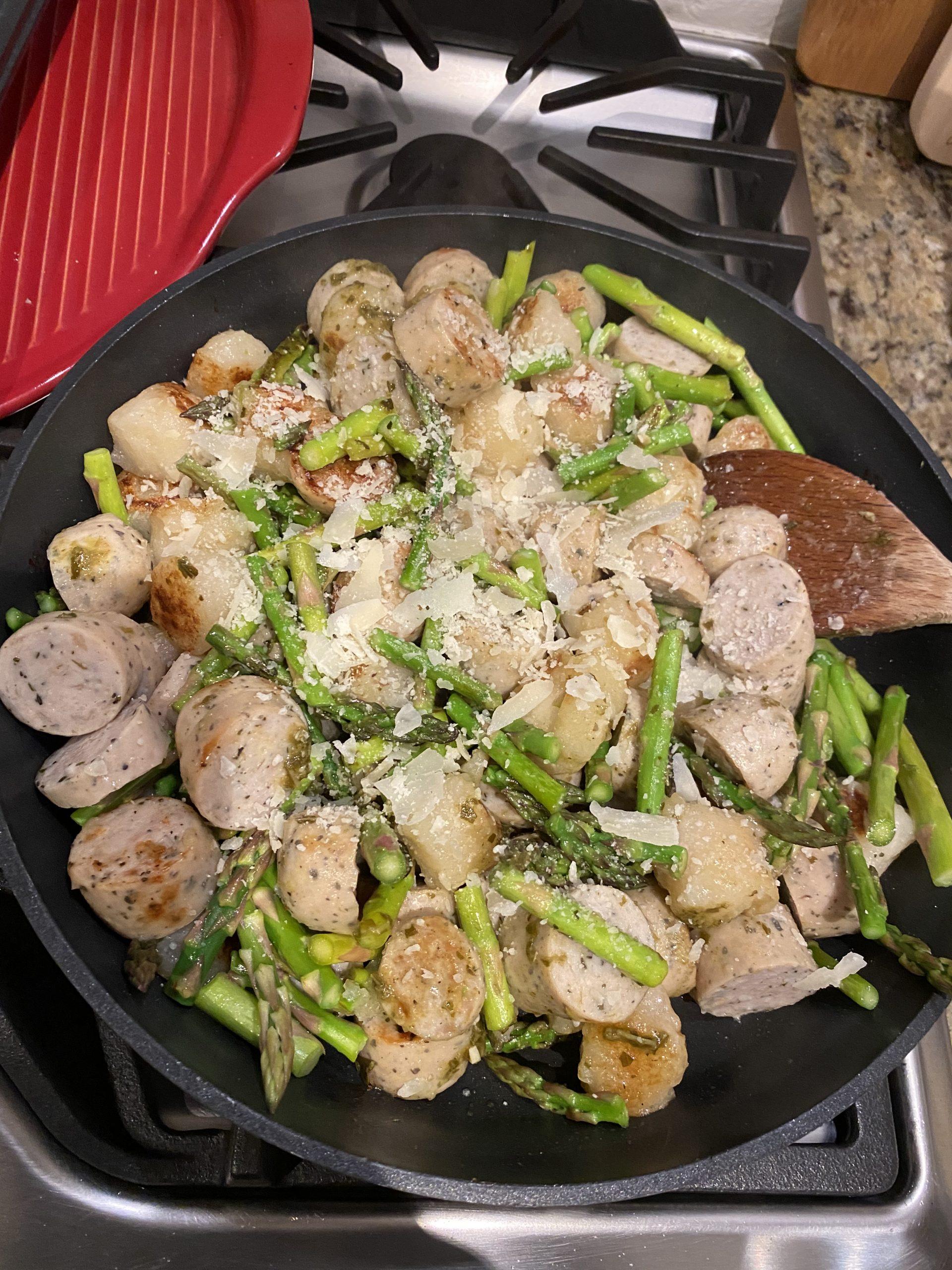 chicken sausage and cauliflower gnocchi