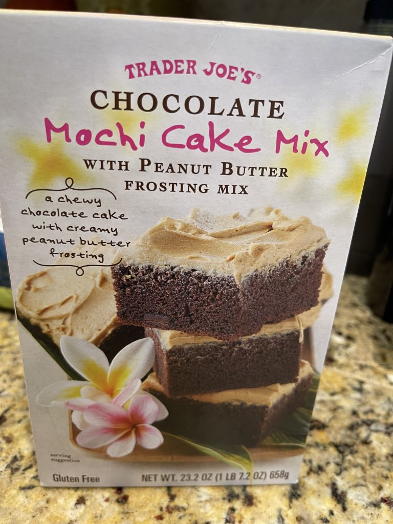 Trader Joe's chocolate mochi cake
