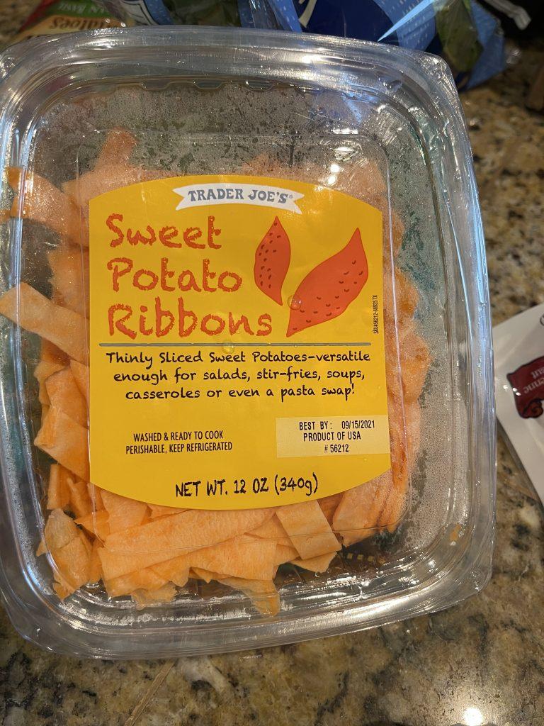 Trader Joe's sweet potato ribbons